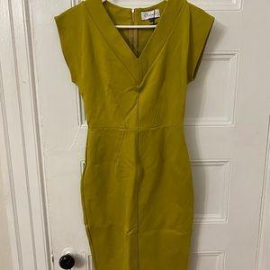 Closet London chartreuse dress